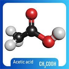 تصویر سه بعدی استیک اسید